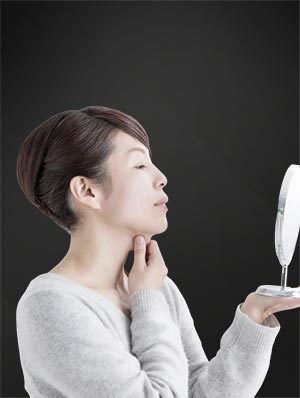Double chin, non-surgical treatments, model 01